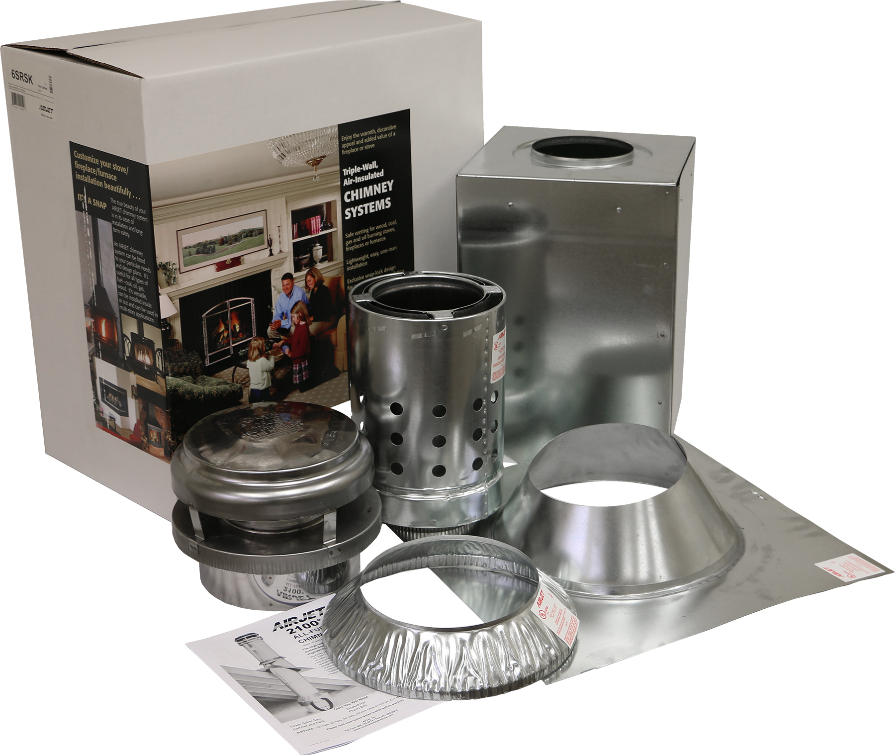 Chimney Pipe 8 Inch Roof Brace Kit Galvanized Metal Manual Guide